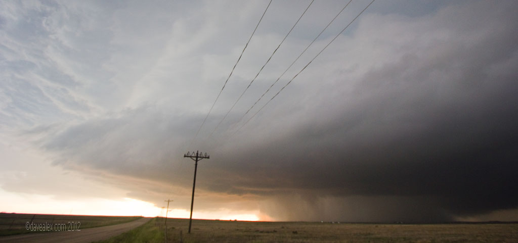 June 7, 2102 Calhan, CO Tornado as it drfited into the rain core