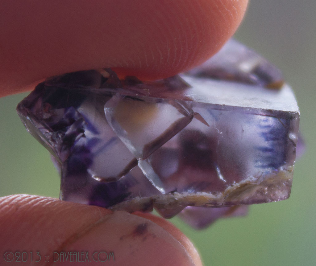 Gemmy Fluorite - a couple of fractures but clear and purple!