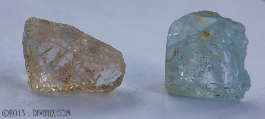 Sherry stone and blue to show the colors