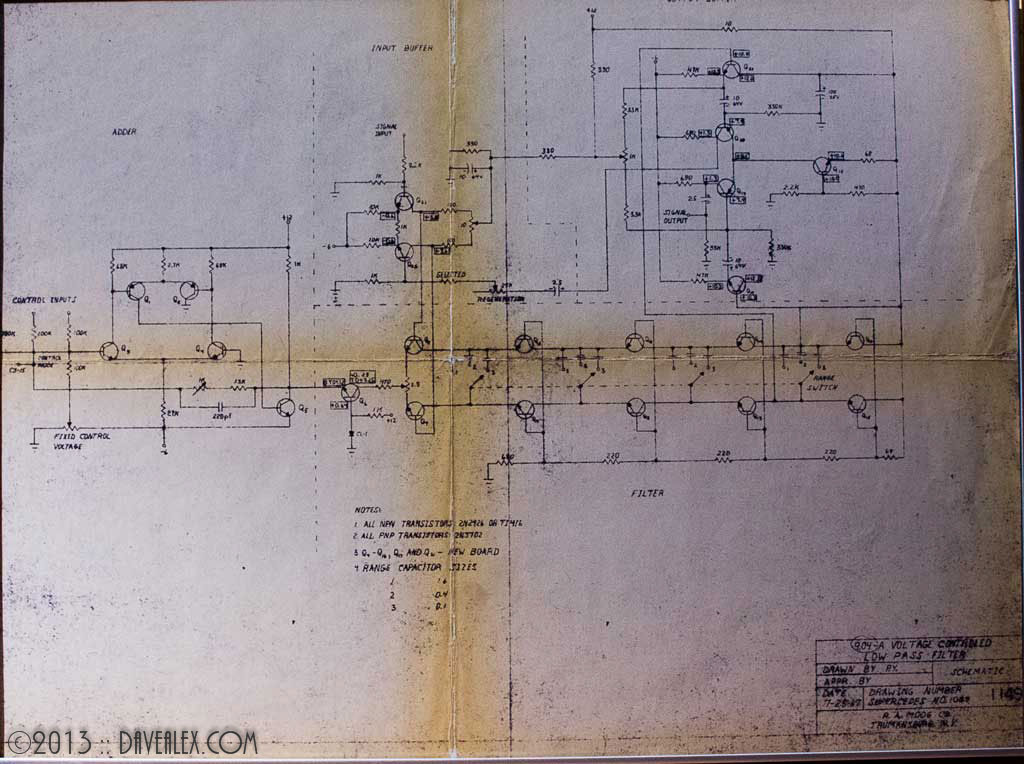 Moog 904-A Low Pass Filter Schematic