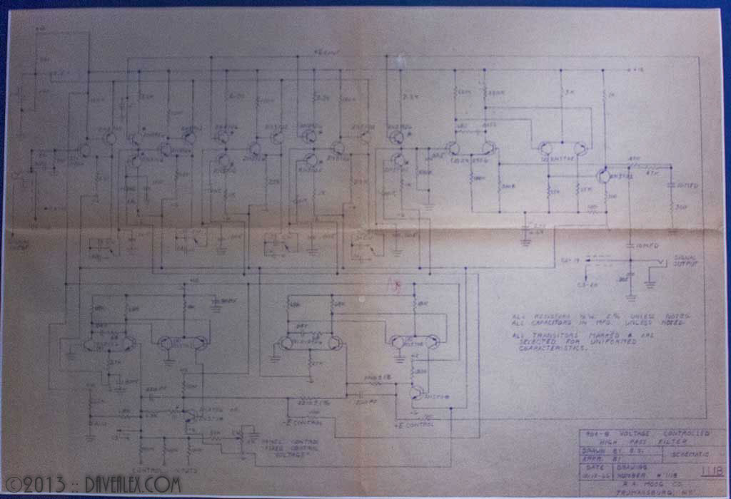 Moog 904-B High Pass Filter Schematic