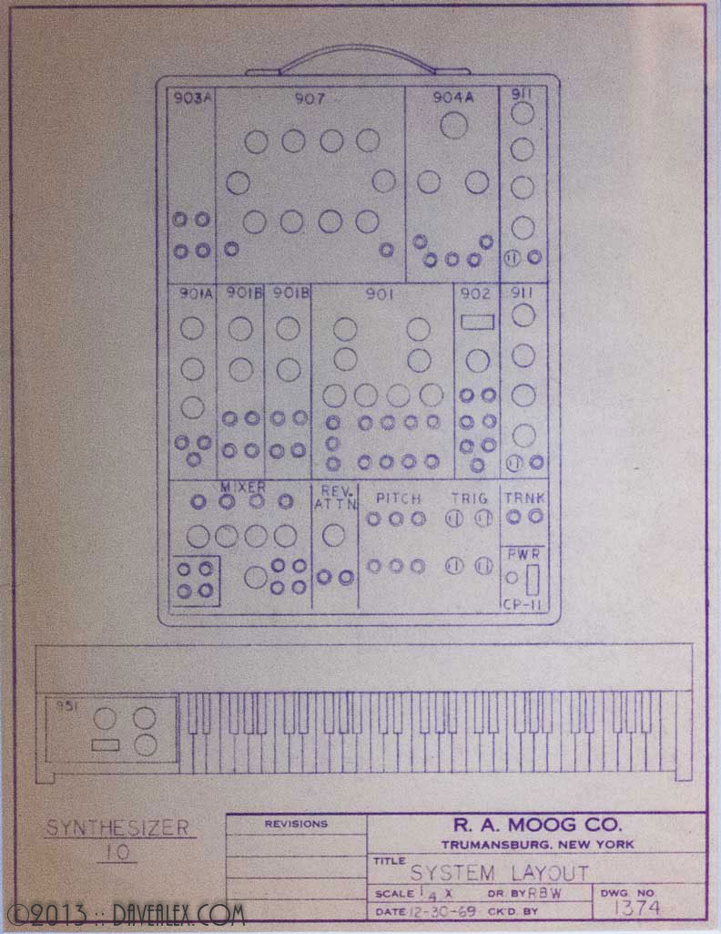 Moog Synthesizer 10 Schematics