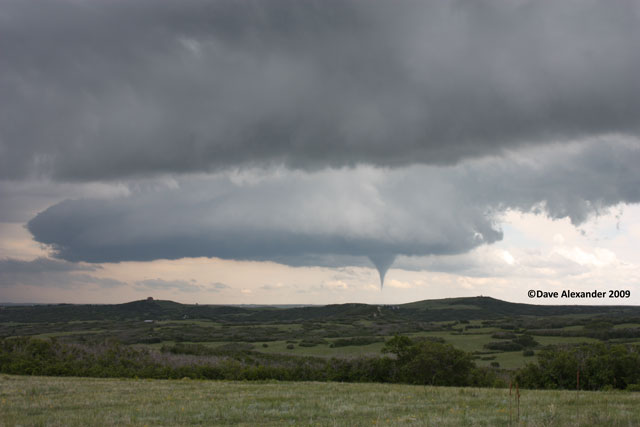 Funnel slowly forming