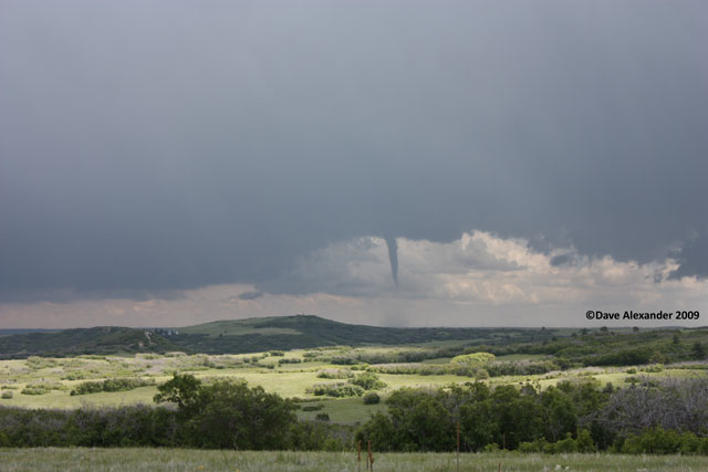 Tornado roping out
