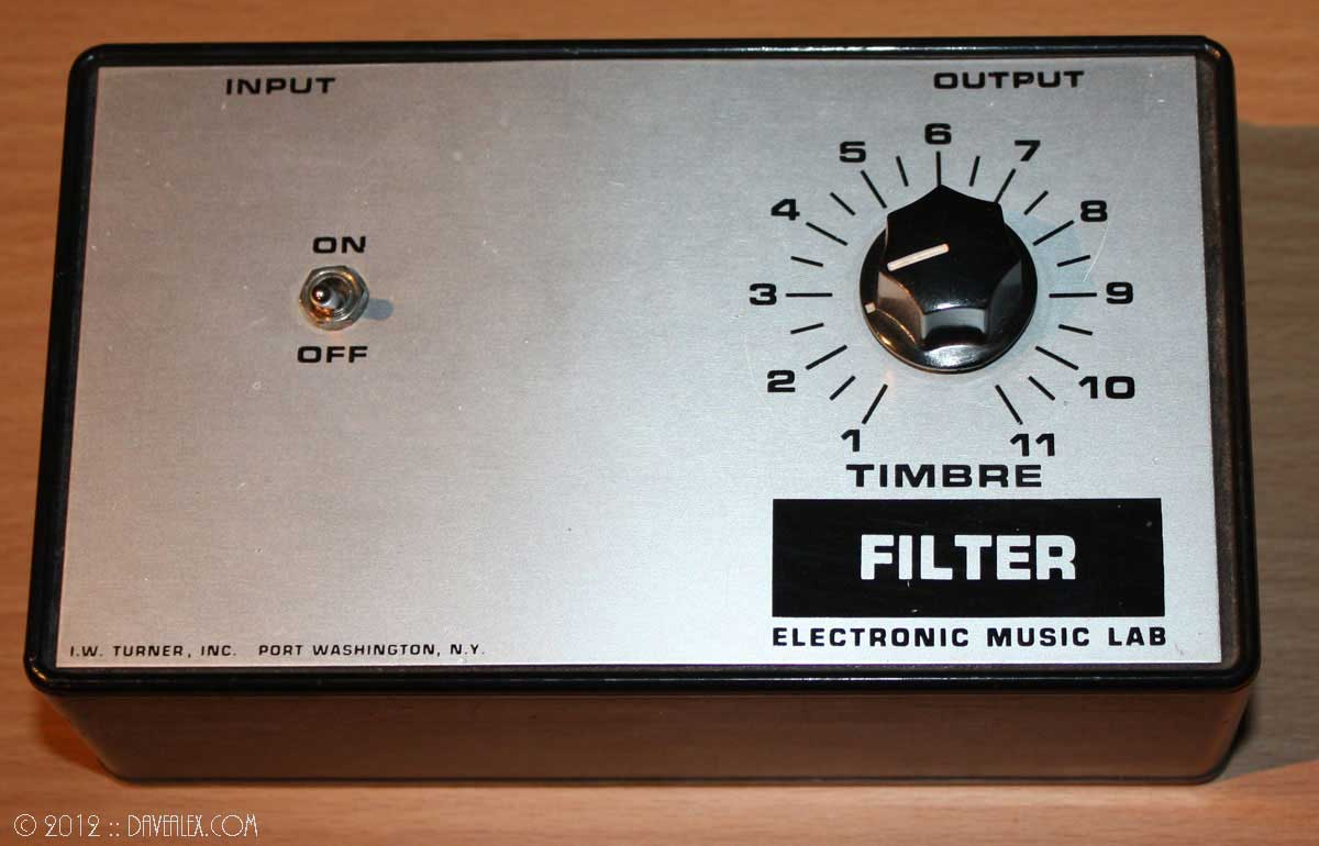 I.W. Turner, Inc. Electronic Music Lab Filter