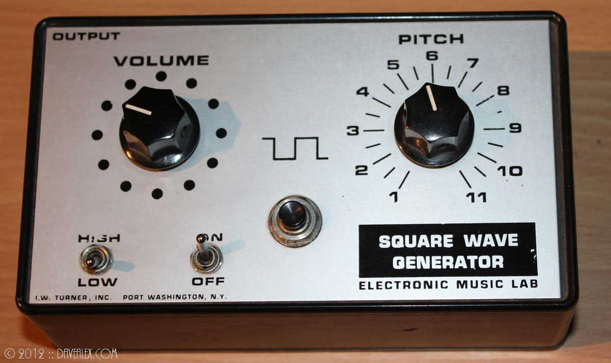 I.W. Turner, Inc. Electronic Music Lab Square Wave Generator