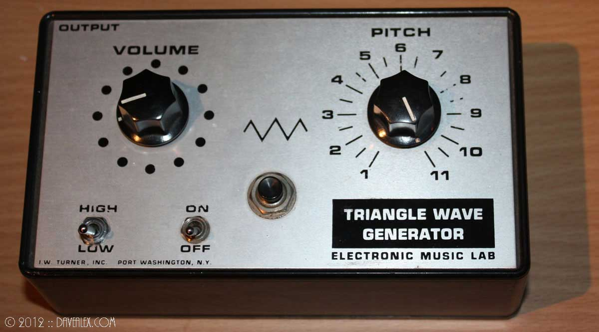 I.W. Turner, Inc. Electronic Music Lab Triangle Wave Generator