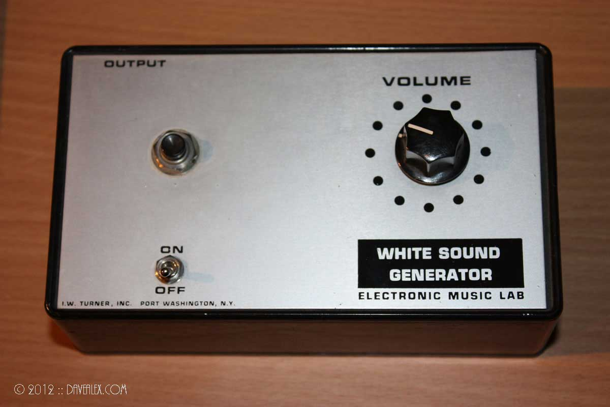 I.W. Turner, Inc. Electronic Music Lab White Sound Generator
