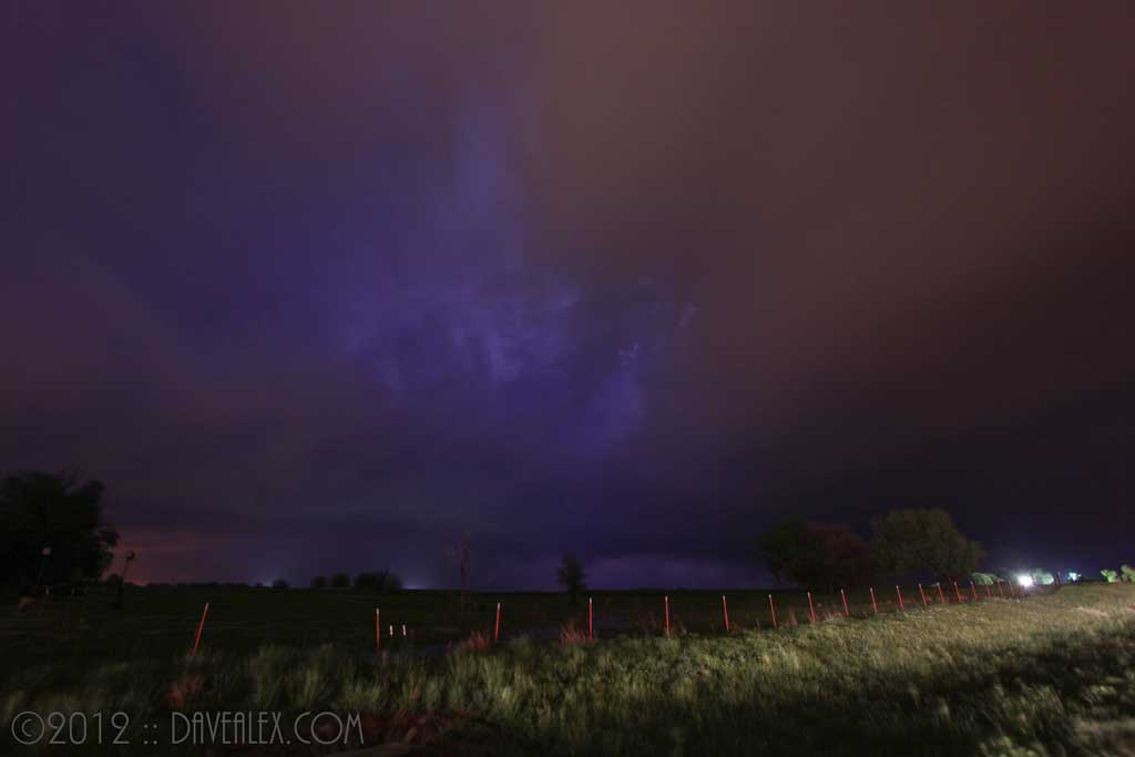 Tornadic storm after the core passed just south and east of Anthony.
