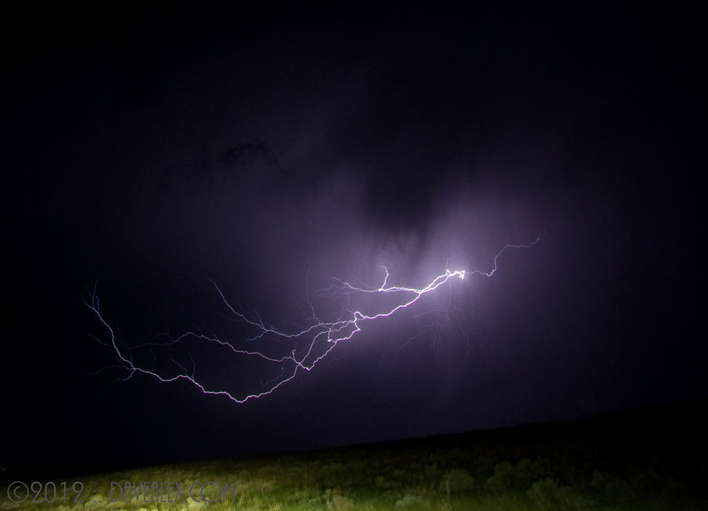 My favorite lightning shot of the night...really close