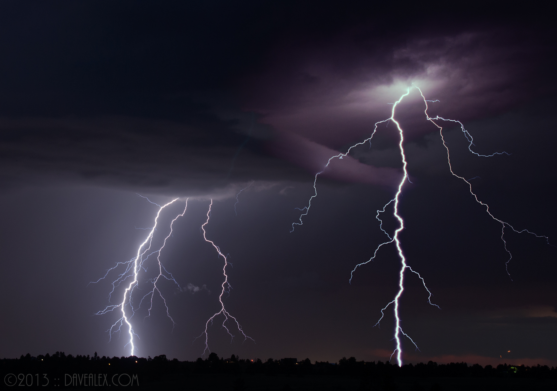 Lightning taken SE of Parker Colorado, July 13, 2011