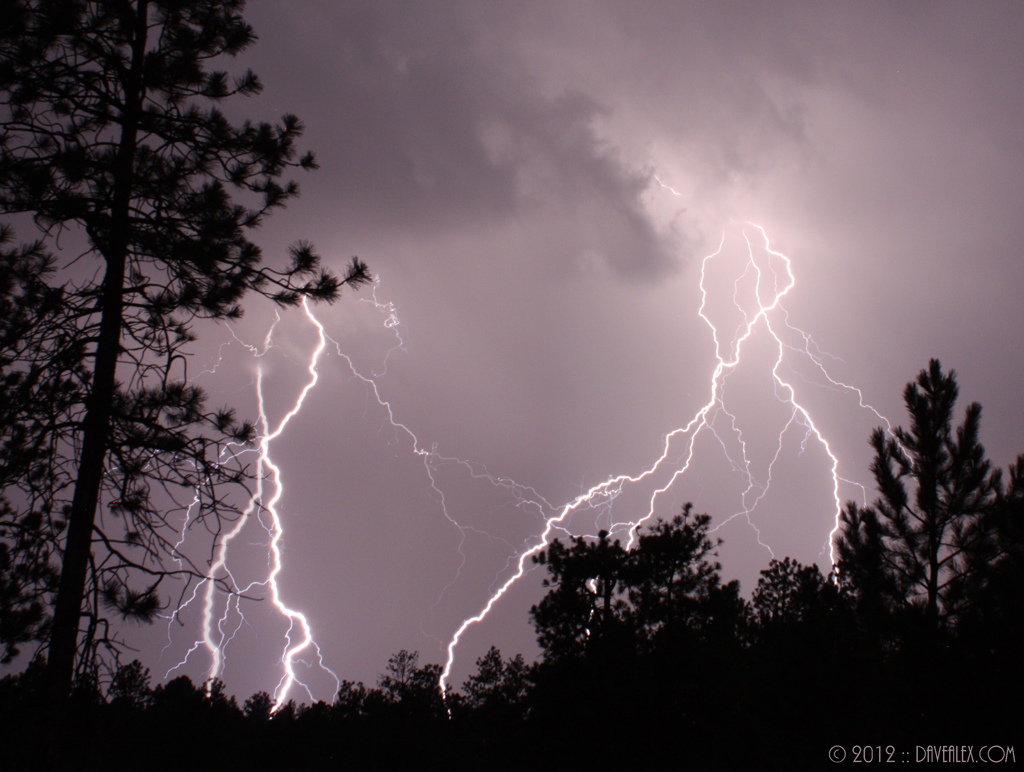 September 2, 2012 Larkspur Colorado - 3 Lightning stills stacked