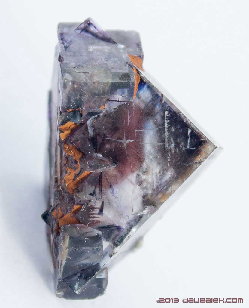 Lake George Fluorite with a red heart (needs an acid bath)