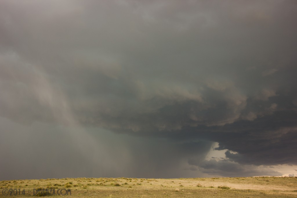 Just as we got in front (South) of the storm near Simla