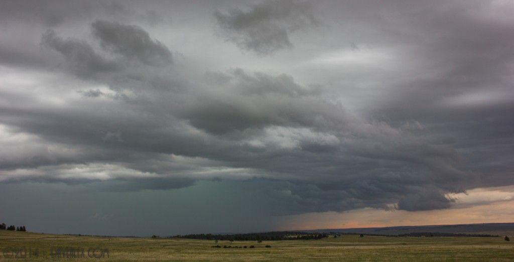 6/8/2014.  Cool structure as the northern storm passed Elizabeth.