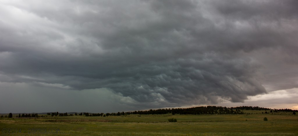 6/8/2014.  Cool structure as the northern storm was near Kiowa.