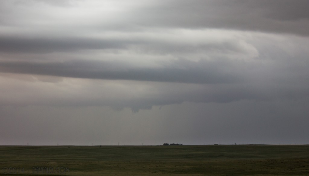 6/8/2014.  This cell SW of Simla had many interesting shapes in the 10 minutes I watched it.