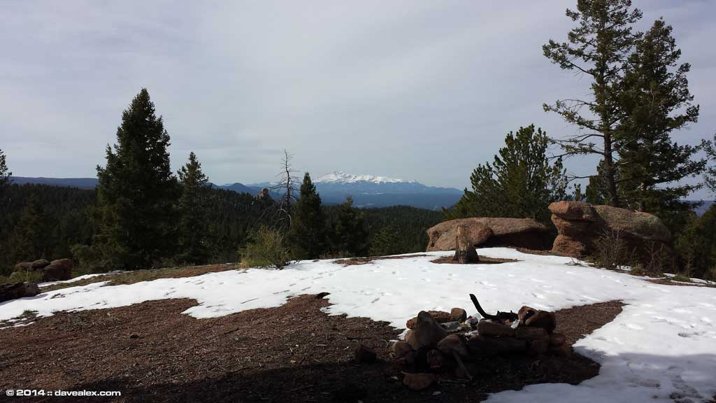 Campsite was awesome; needed a little snow shovelling though.