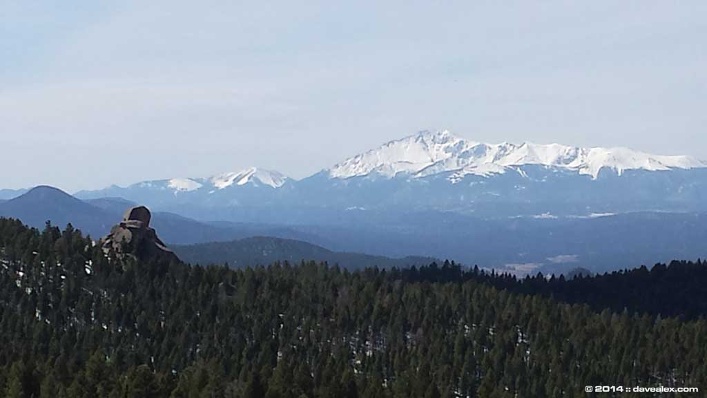 View of the Pikes Peak Batholith and Pikes Peak!