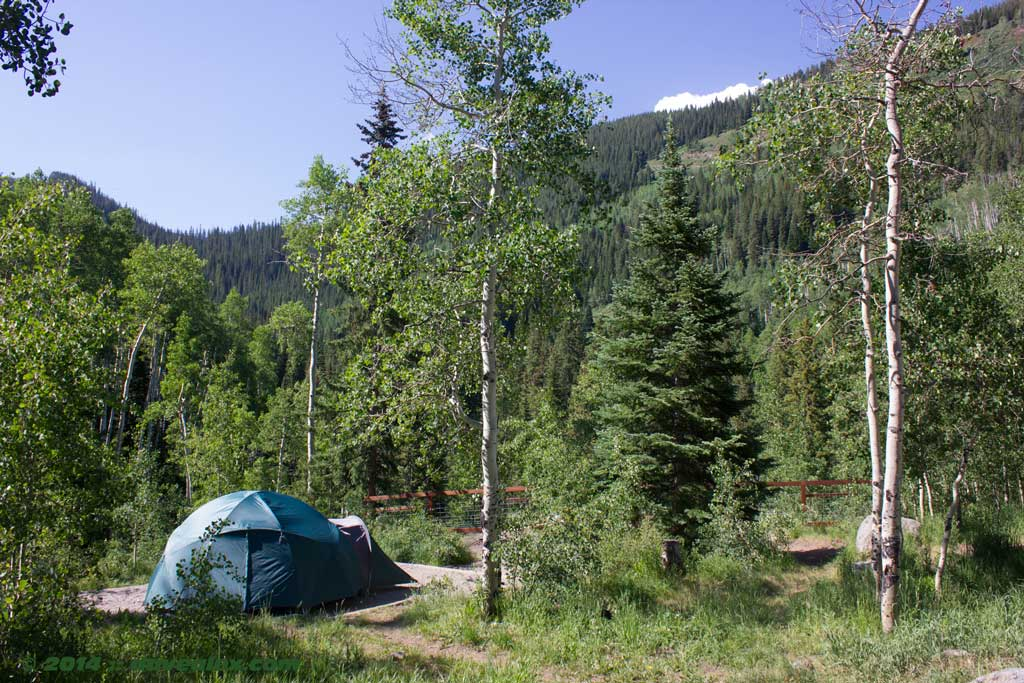 Fulford Campground campsite #4, the best one in my opinion.