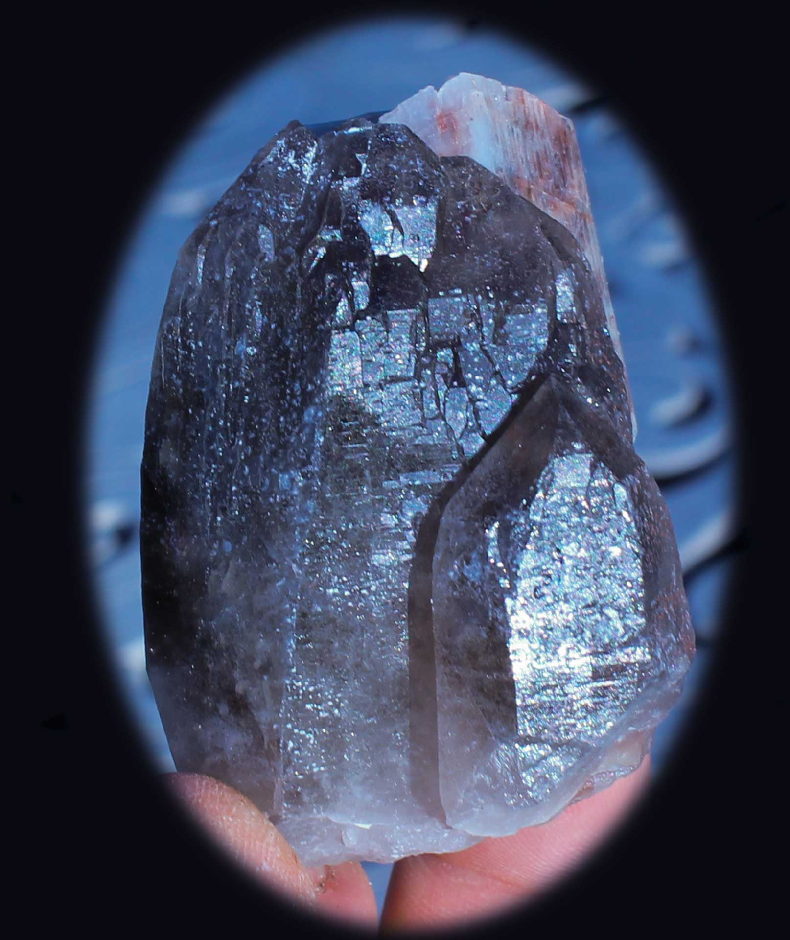 Parallel Growth Smoky Quartz