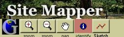 After zooming in, I choose the Identify icon in the toolbar