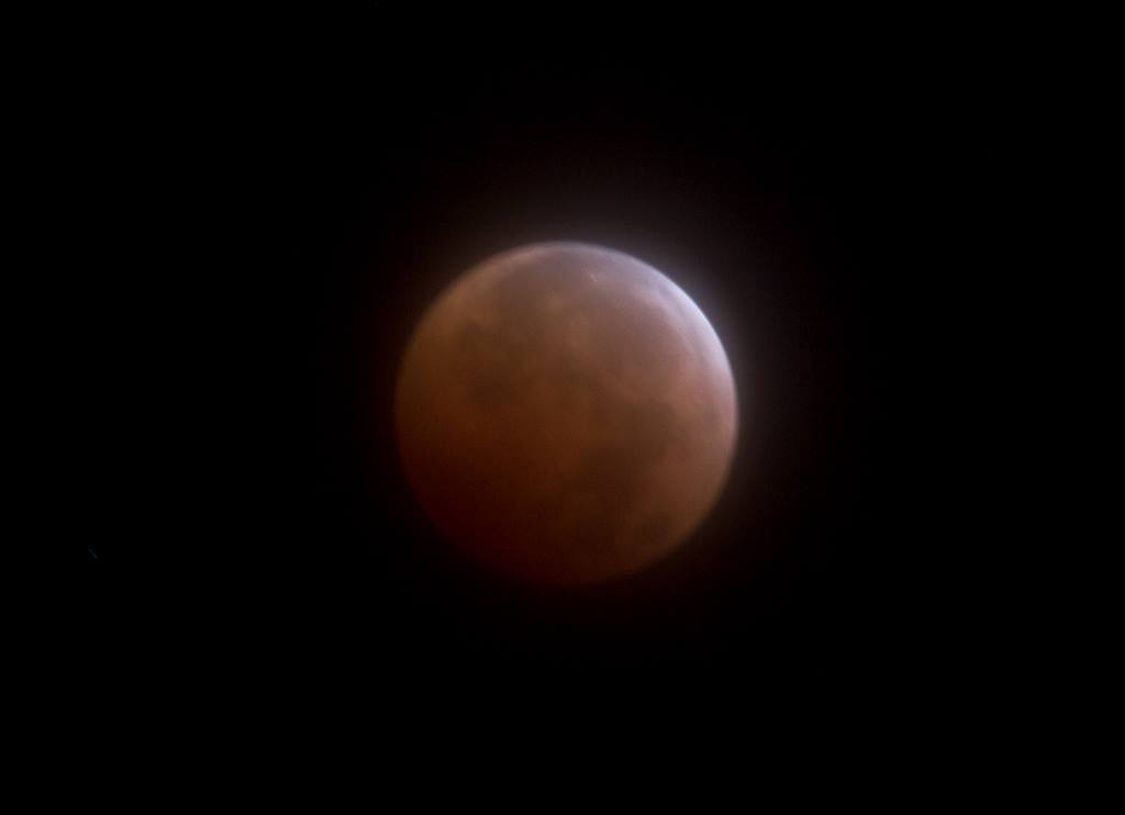 Blood Red Moon during total eclipse
