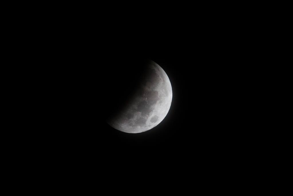 Moon heading into eclipse