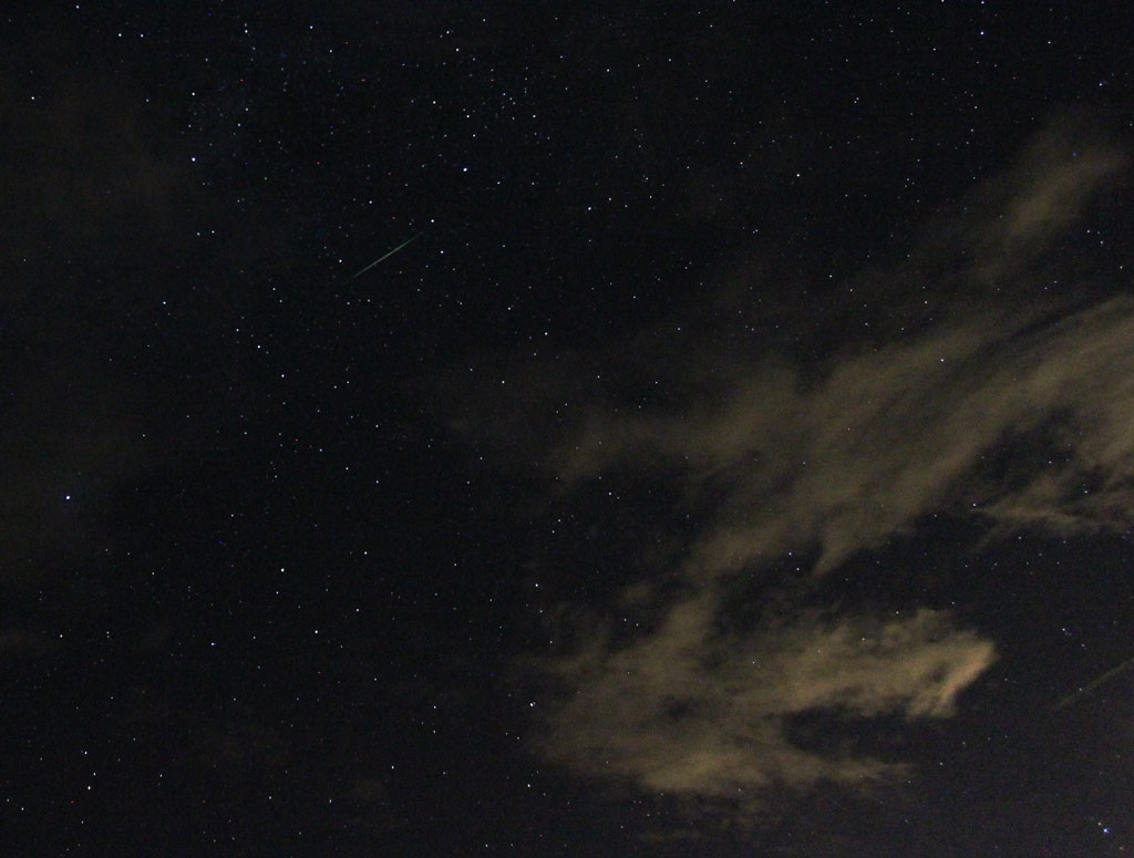 Perseids Peak with clouds