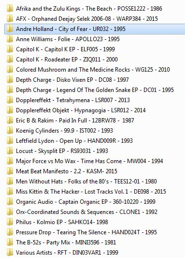 Here is the list of records that I digitized. Gonna start listening to them in the car tomorrow!
