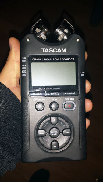 The Tascam DR-40e is my new recorder. So far I really like it; I've recorded records, a couple of live sets, and some environmental sounds with the built in microphones. Sound great!