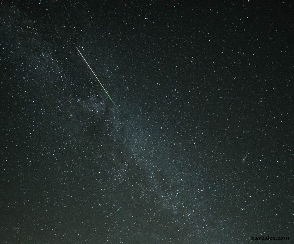 Perseids and Milky Way