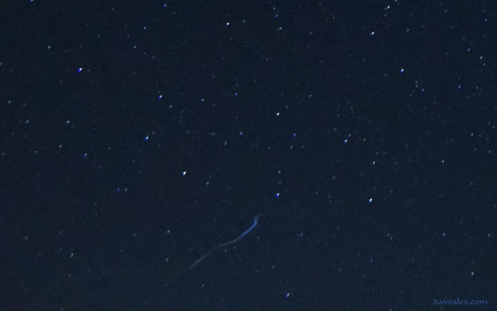 Fireball vapor trail