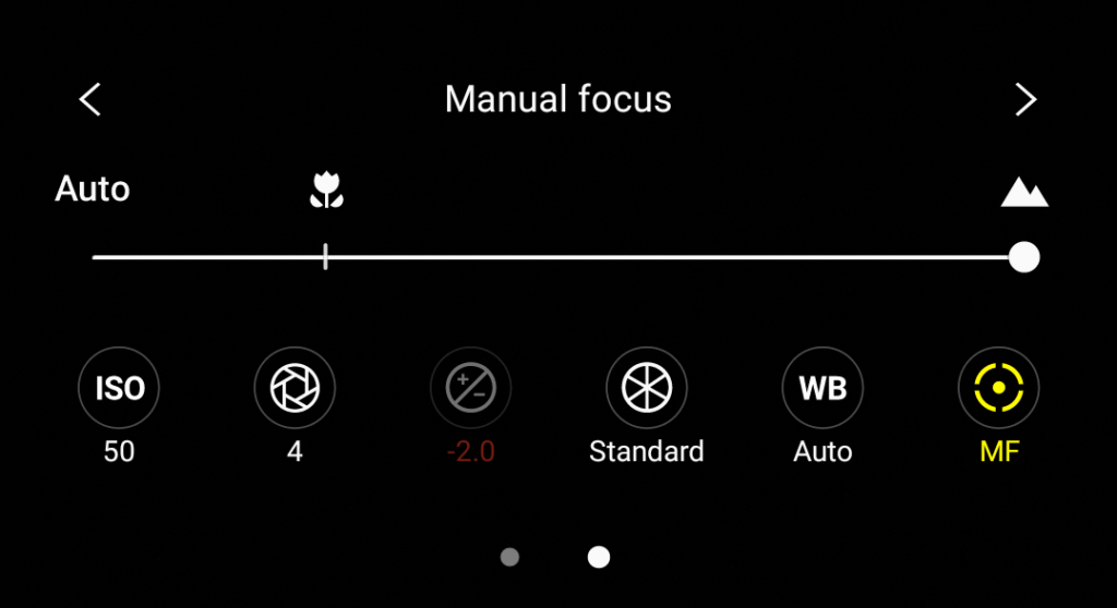 Pro Mode focus settings
