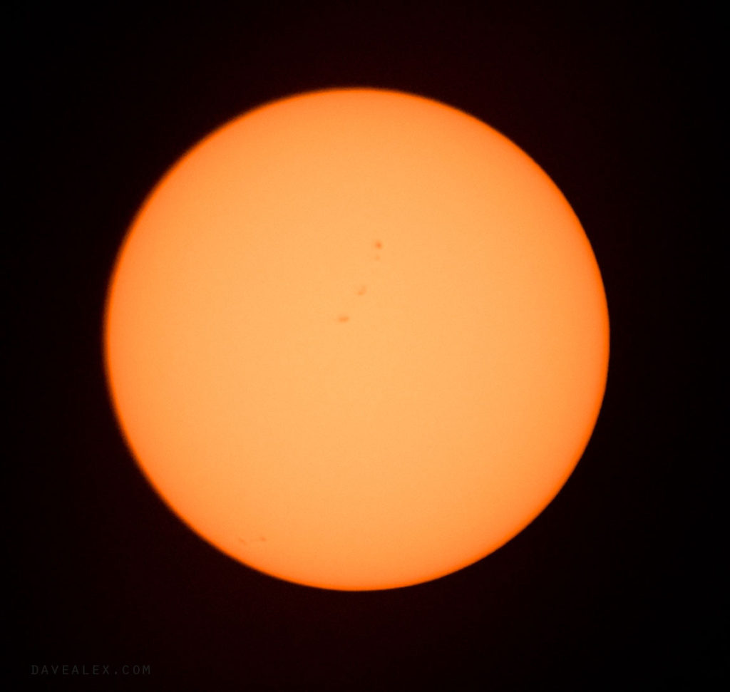 Sun before the eclipse started