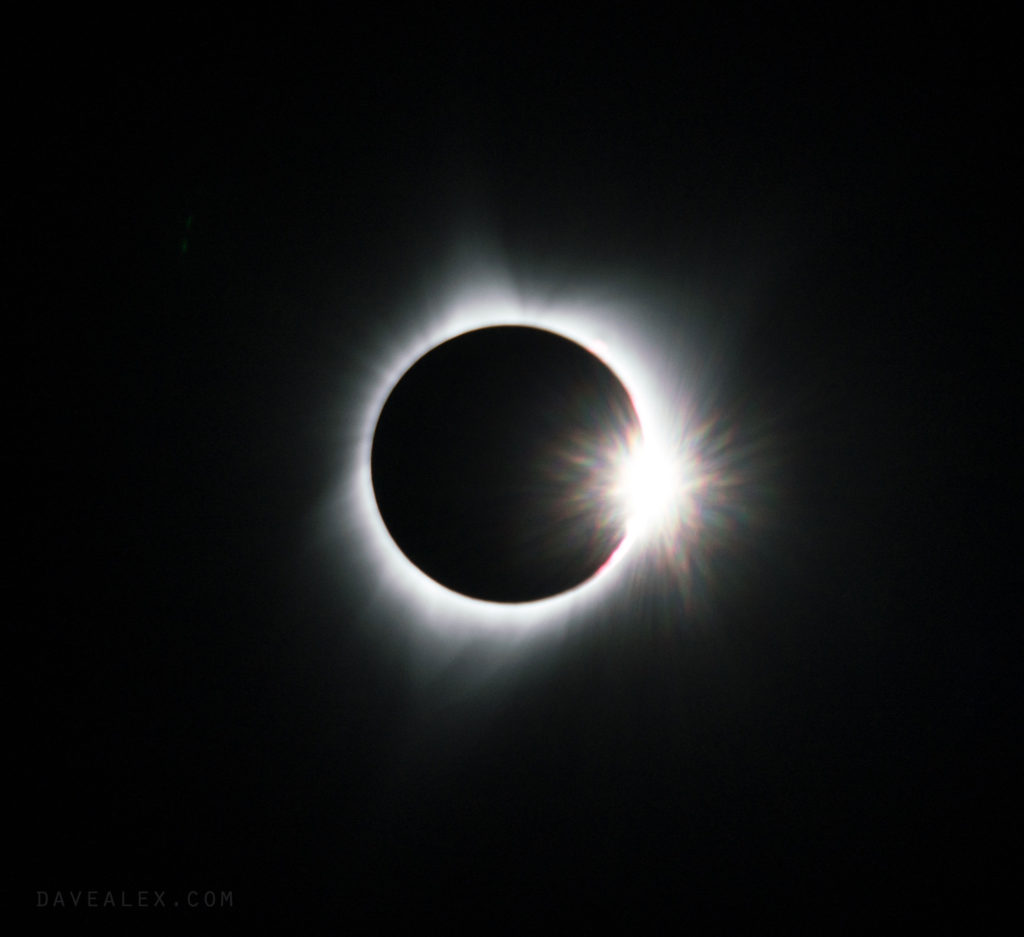 Diamond Ring Solar Eclipse Totality